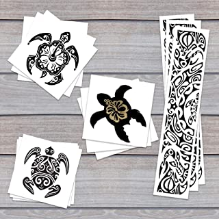 Turtle Trio Pack Temporary Tattoos   Skin Safe   MADE IN THE USA  Removable