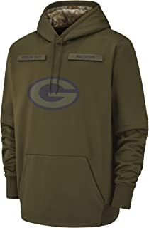 Dunbrooke Apparel Men's Green Bay Packers Therma Fit Pullover Salute to Service Hoodie