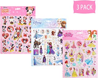 NEILDEN 3D Disney Frozen Stickers 100+ for Kids 2-8, Aesthetic Stickers Pack for Girls and Boys, Cute Cartoon Foam Stickers for Toddlers and Children Party Favors (Big Size 3 Pack)