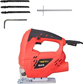 Sponsored Ad – 710W Electric Jigsaw Compact Saw Cutting with 4 Variable Speeds, Bevel Cutting: ±45 °, Corded Jig Saw for W...