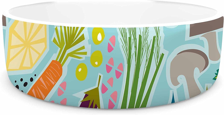 KESS InHouse Agnes Schugardt Garden Song  bluee Food Pet Bowl, 7