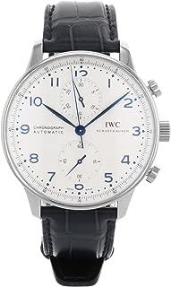 IWC Men's IW371446 Portugieser Chronograph  Automatic Blue alligator leather strap Watch
