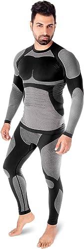 Fimage Damen Ultra Thin hohe Elastizit/ät Weiche Seamless Thermo-Unterw/äsche Tops
