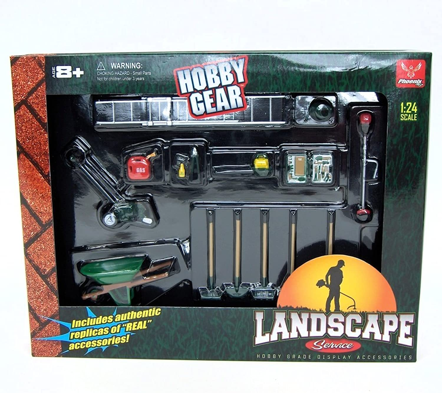 1 24th Landscaping Service 14pc Set by Hobby Gear