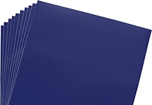 12x12 Permanent Vinyl, 10 Pack Navy Blue Outdoor Adhesive Backed Craft Sheets in Matte Finish for Silhouette and Cricut to Make Monograms Stickers Decals and Signs by Scraft Artise