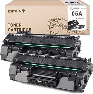ZIPRINT Compatible Toner Cartridge Replacement for HP 05A CE505A use for HP Laserjet P2055dn P2035 P2035n P2055d P2055x (Black, 2-Pack)