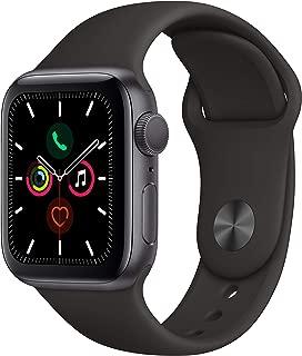 Apple Watch Series 5 GPS w/ 40MM Space Gray Aluminum Case & Black Sport Band (Renewed)