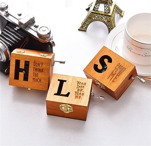 gran venta Vintage caja de música, moonvvin personalizar cartas de de de madera Tallada mano Cranked Musical caja regalo para Navidad día de San Valentín  bienvenido a comprar