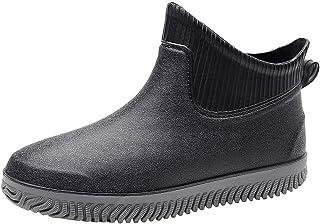 MaNMaNing-Shoes Bottes de pluie à enfiler pour homme, étanches, antidérapantes, à bout rond, tendance, confortables