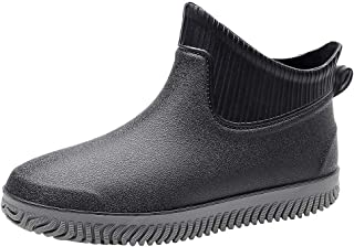 😸 Men Short Tube Boots Roman Shoes Non-Slip Waterproof Shoes Rain Boots Fashion Shoes Fishing Shoes Work
