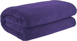 40x80 Inches Jumbo Size, Thick & Large 650 GSM Ringspun Genuine Cotton Bath Sheet, Luxury Hotel & Spa Quality, Absorbent & Soft Decorative Kitchen & Bathroom Turkish Towels, Violet Purple