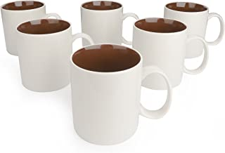 Panbado 6 x Tazas de Café/Té de Porcelana de Blanca y Marr