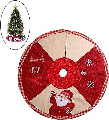 IOFESINK 42 Pulgadas / 102 cm Falda del árbol de Navidad árbol de ...