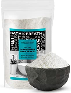 100% Pure RAW Magnesium Bath Flakes 12 LB Large Bulk Resealable Pack - Muscle Relaxing Organic Salts Mg Chloride, Mineral ...