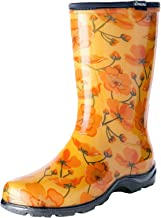 Sloggers Women's Waterproof Rain and Garden Boot with Comfort Insole, California Dreaming, Size 10, Style 5016CAD10