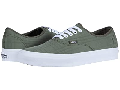 Vans Authentictm ((Tonal Plaid) Grape Leaf/True White) Skate Shoes