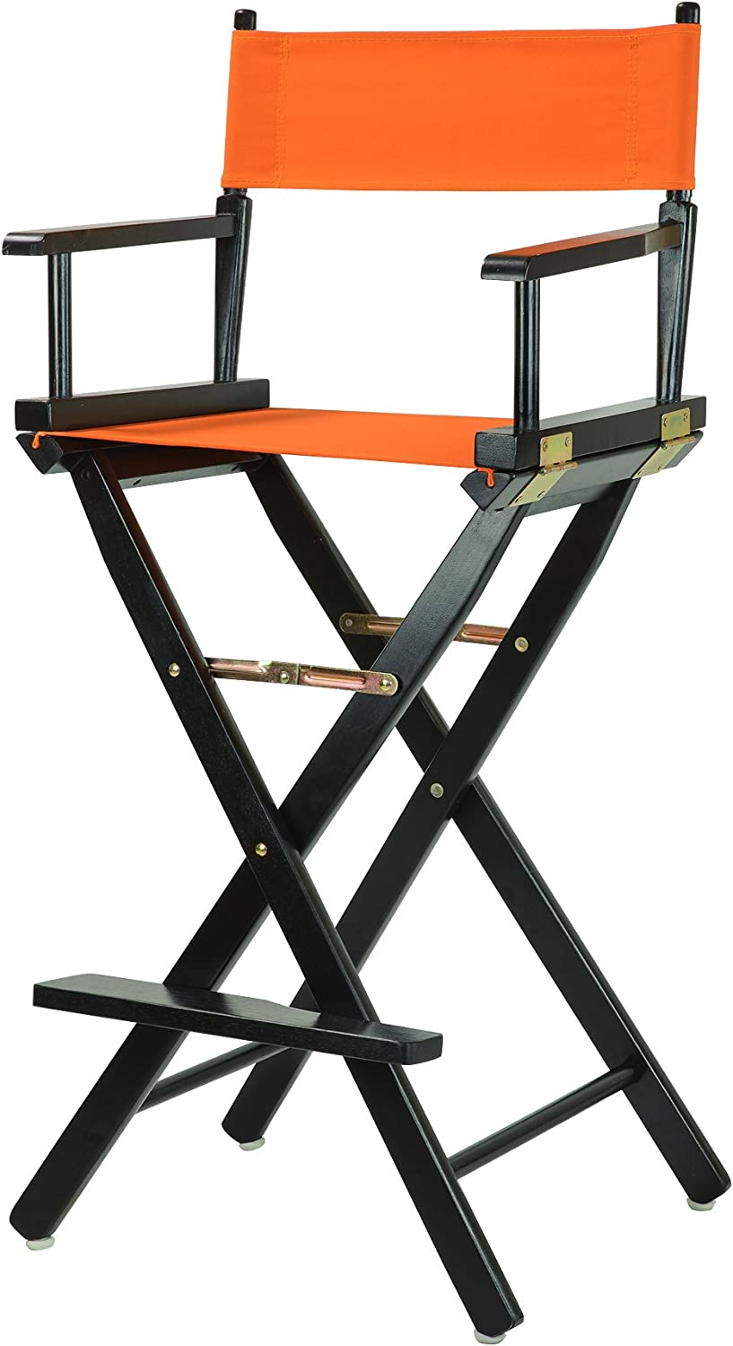 Casual Home 30-Inch Director Chair Black Frame, Tangerine Canvas