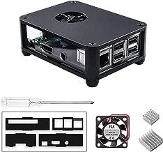 Smraza Raspberry Pi 3 B+ Case with Fan, 2 Heatsinks, Aluminum Case for Raspberry Pi 3 Model B+, Compatible with RPi 3 B+, 3B, 2B (Bonus Gift: 1 Screwdriver)