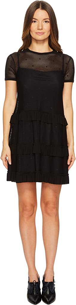 RED VALENTINO Jersey Mesh Dress