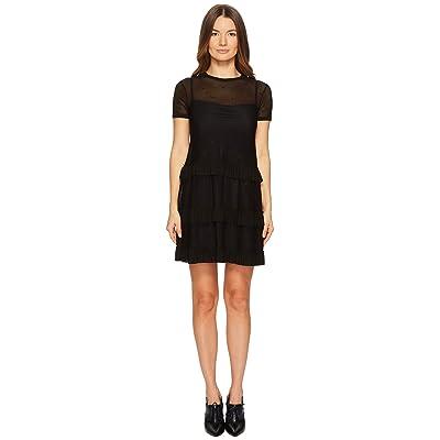 RED VALENTINO Jersey Mesh Dress (Black) Women
