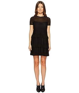 Jersey Mesh Dress