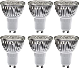 MODOAO 4W GU10 LED Bulbs, Dimmable Spot Light Bulb,Recessed Lighting,110 Volts 30 Degree Beam Angle, 40W Halogen Bulbs Equivalent,400LM,3000K Warm White 6 Pack