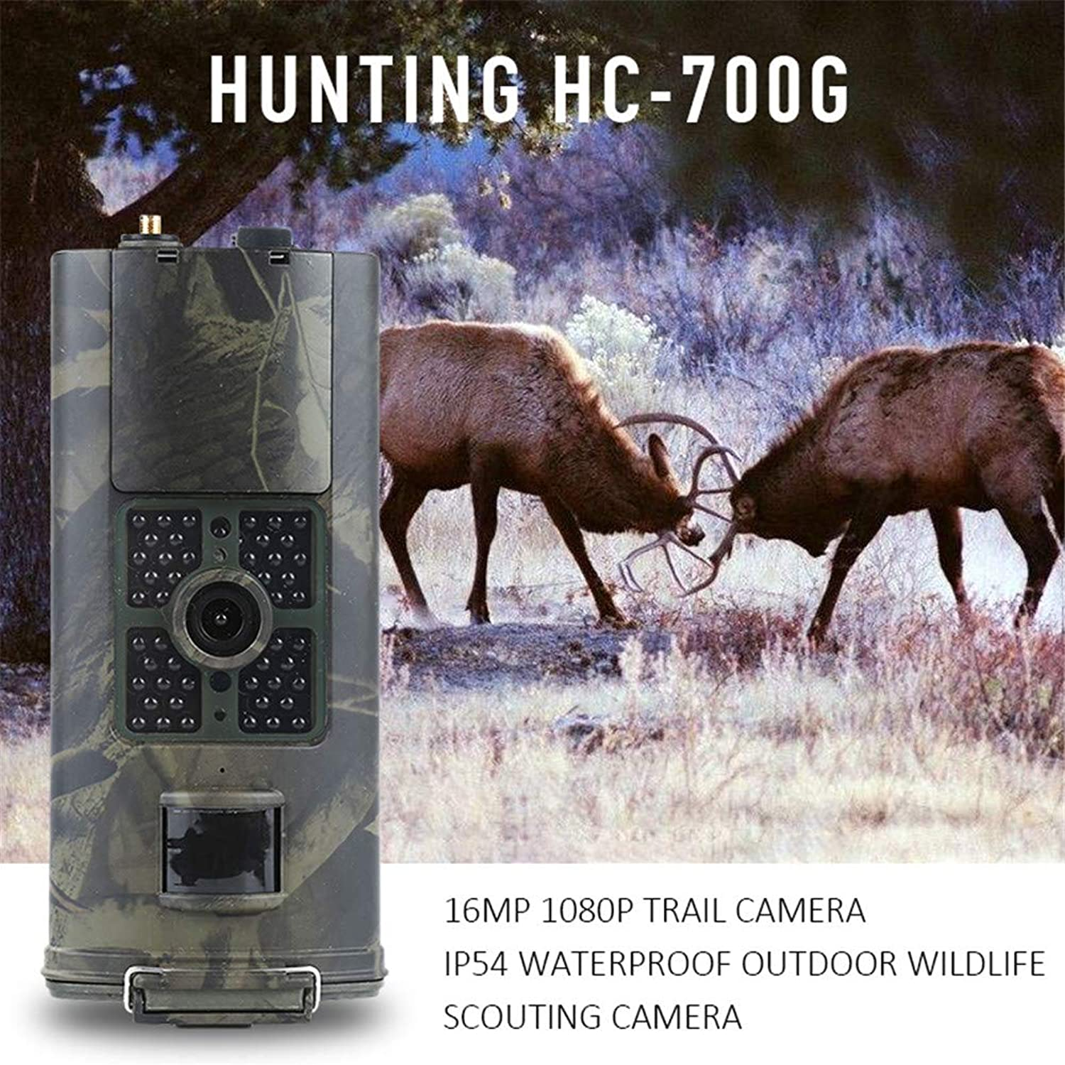 Hunting Trail Camera- 3G SMS GSM 16MP 1080p Infrared Night Vision Wildlife Hunting Trail Camera Animal Scouting Device 940nm Photo Traps Camera