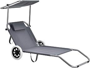 Sdraio Trolley Da Spiaggia Lidl.Amazon It Sdraio Con Ruote Per Spiaggia