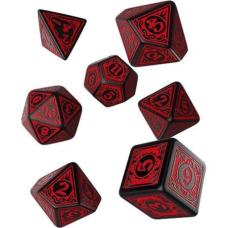 Q Workshop Q WOKSHOP Pathfinder Wrath of The Righteous Rpg Ornamented Dice Set 7 Polyhedral Pieces