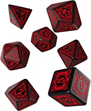 Q WOKSHOP Pathfinder Wrath of the Righteous Rpg Ornamented Dice Set 7 Polyhedral Pieces