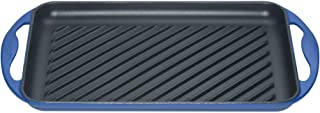 Le Creuset Enameled Cast-Iron 13-by-8-1/2-Inch Rectangular Skinny Grill, Marseille