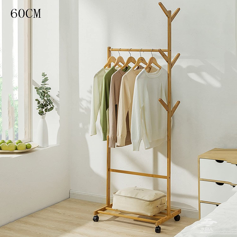 ZXQZ yimaojia Coat Rack Home Living Room Clothes Rack Floor-Standing Bedroom Hanger Storage Rack Removable shoes Rack Coat Hangers (Size   60  37  180cm)