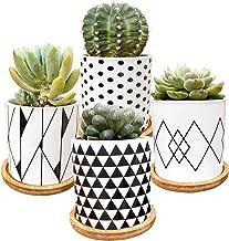 Succulent Plants Pots,Flower Pots Geometry Pots for Plants Planter Pots Indoor&Outdoor Ceramic Plants Pots for Cactus with...