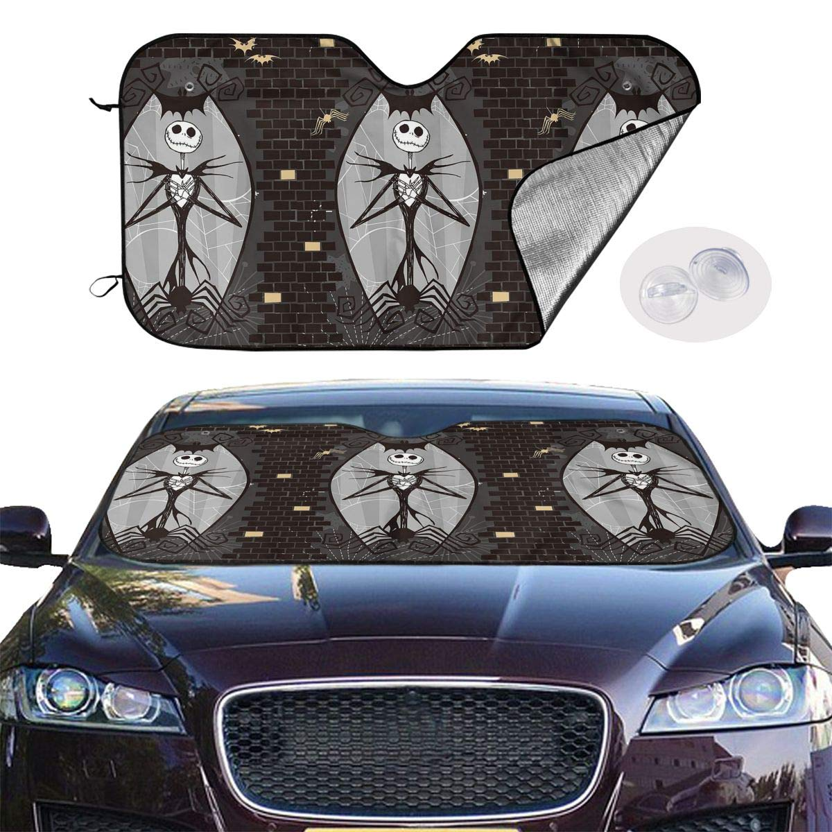 Adjustable Mesh Curtain  Automobile Cover For Sunscreen Slip Window Shades 2set