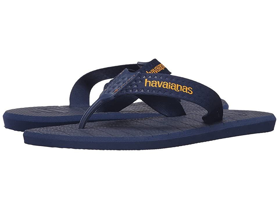 Havaianas Level Flip Flops (Navy Blue) Men