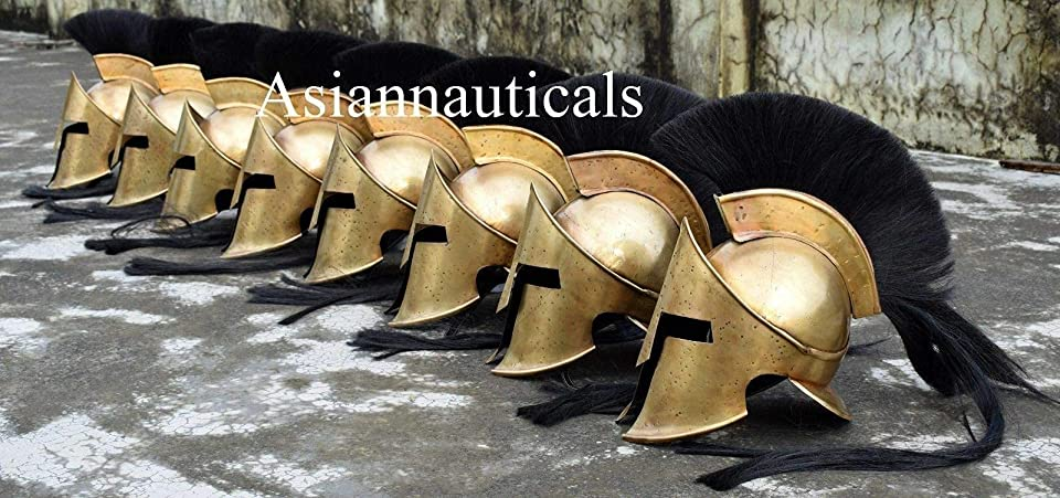Set of 8 PCS Medieval Armour King Leonidas Greek Spartan 300 Roman Helmet