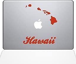 "The Decal Guru Hawaii Decal Vinyl Sticker, 12"" MacBook, Orange (1452-MAC-12M-P)"