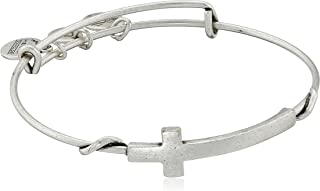 Alex and Ani Spiritual Armour Cross Expandable Wire Bangle Bracelet, 7.75""