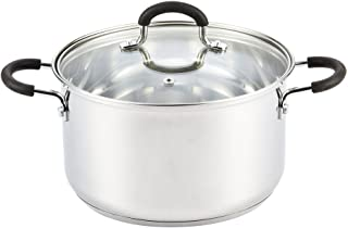 Cook N Home 5 Stainless Steel Lid Quart Stockpot, 5 QT, Silver