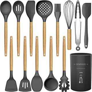14 Pcs Silicone Cooking Utensils Kitchen Utensil Set – 446°F Heat Resistant,Turner..