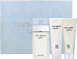 Light Blue by Dolce & Gabbana Perfume Gift Set for Women Eau de Toilette 9.9 Oz. 3 Count
