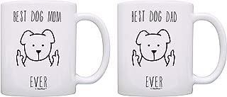 Dog Owner Gifts Best Dog Mom & Best Dog Dad Ever Dog Lovers Gifts Dog Parent Gifts Dog Parents Mug Sets 2 Pack Gift Coffee Mugs Tea Cups Dog Mom & Dad