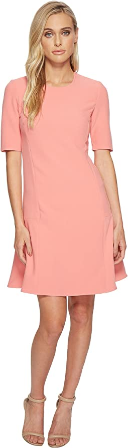 Seamed Flounce Dress