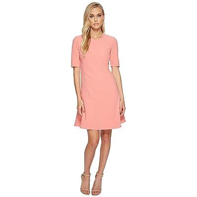 Ellen Tracy Seamed Flounce Dress (Sorbet) Women