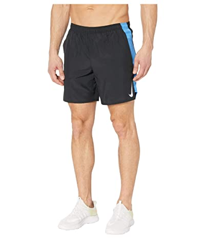 Nike Challenger Shorts 7 BF (Black/Pacific Blue/Reflective Silver) Men