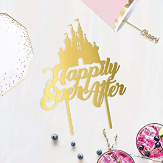 Happily Ever After ACRYLIC Cake Topper, Fairy Tale Wedding Theme, Princess Castle Cake Topper