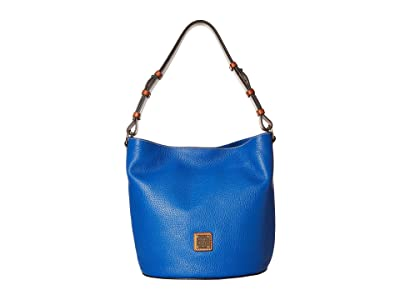 Dooney & Bourke Pebble Thea Feedbag (French Blue/Tan Trim) Handbags