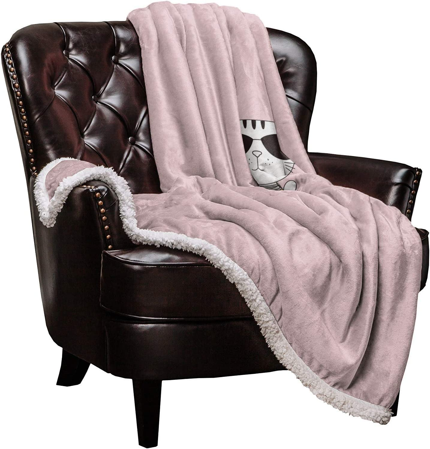 Plush Sherpa Blanket for Adults Throw Soft National products 59