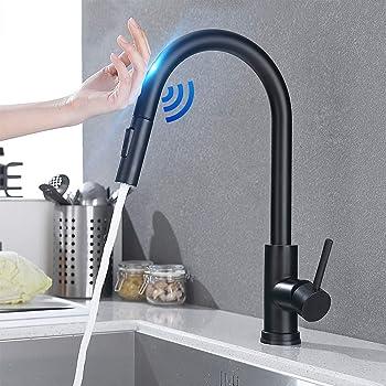 Sensor Küchenarmatur 360-Grad-Touch-Wasserhähne herausziehen Mischbatterie Batte