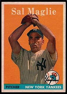 Baseball MLB 1958 Topps #43 Sal Maglie UER Yankees